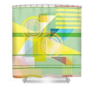 Abstract Shapes #5 Shower Curtain by Gary Grayson