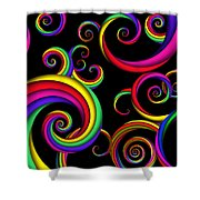 Abstract - Spirals - Inside A Clown Shower Curtain by Mike Savad