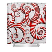 Abstract - Spirals - Peppermint Dreams Shower Curtain by Mike Savad