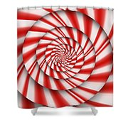 Abstract - Spirals - The Power Of Mint Shower Curtain by Mike Savad