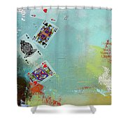 Abstract Tarot Card 009 Shower Curtain by Corporate Art Task Force