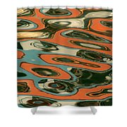 Abstract Water Reflection 5 Shower Curtain by Andrew  Hewett