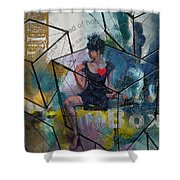 Abstract Woman 002 Shower Curtain by Corporate Art Task Force