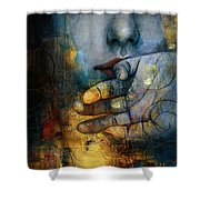 Abstract Woman 011 Shower Curtain by Corporate Art Task Force