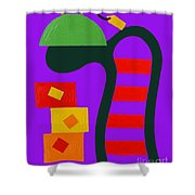 Abstraction 230 Shower Curtain by Patrick J Murphy