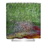 Abstraction Of Life Shower Curtain by Deborah Benoit