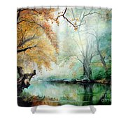 Abyss Shower Curtain by Sorin Apostolescu