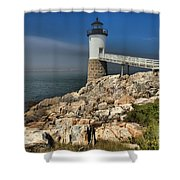 Across The Seas Shower Curtain by Adam Jewell