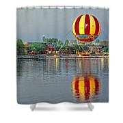 Across the Water Shower Curtain by Jenny Hudson