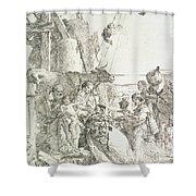 Adoration Of The Magi Shower Curtain by Giovanni Battista Tiepolo