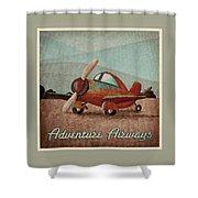 Adventure Air Shower Curtain by Cindy Thornton