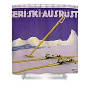 Advertisement For Skiing In Austria Shower Curtain by Carl Kunst