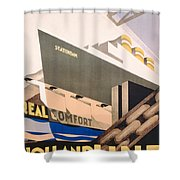 Advertisement For The Holland America Line Shower Curtain by Hoff