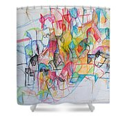 Advertisement Of Self 1 Shower Curtain by David Baruch Wolk