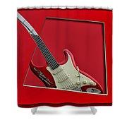 Aerosmith Rockn Roller Guitar Shower Curtain by Thomas Woolworth