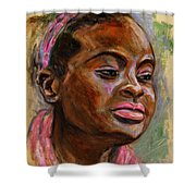 African American 3 Shower Curtain by Xueling Zou