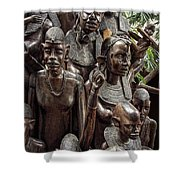 African Family Tree Of Life Shower Curtain by Daniel Hagerman