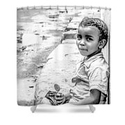 African Girl Remastered Shower Curtain by Alex Hiemstra