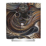 African Spirits I Shower Curtain by Ricardo Chavez-Mendez