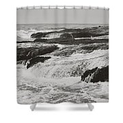 After the Crash Shower Curtain by Laurie Search