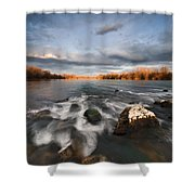 After The Rain Shower Curtain by Davorin Mance