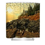 Afternoon At Bass Harbor Shower Curtain by Adam Jewell
