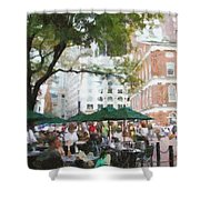 Afternoon at Faneuil Hall Shower Curtain by Jeff Kolker
