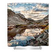 Afternoon Reflections Shower Curtain by Cat Connor