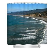 Agate Beach Shower Curtain by Adam Jewell