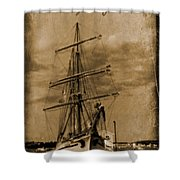 Age Of Sail Poster Shower Curtain by John Malone Halifax photographer