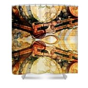 AGING BARRELS Shower Curtain by PainterArtist FIN