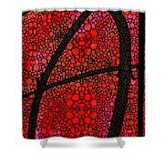 Ah - Red Stone Rock'd Art By Sharon Cummings Shower Curtain by Sharon Cummings