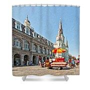 Ahh...new Orleans Sketch Shower Curtain by Steve Harrington