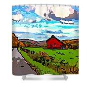 Ah...west Virginia Line Art Shower Curtain by Steve Harrington
