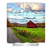 Ah...West Virginia painted Shower Curtain by Steve Harrington