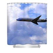 Air Force One - Mcdonnell Douglas - Dc-9 Shower Curtain by Jason Politte