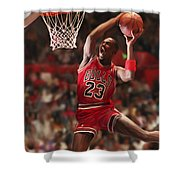 Air Jordan Shower Curtain by Mark Spears