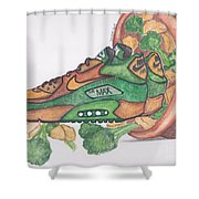 Air Max 90 Cnb Shower Curtain by Dallas Roquemore