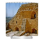 Ajlun Castle In Jordan Shower Curtain by Ruth Hager