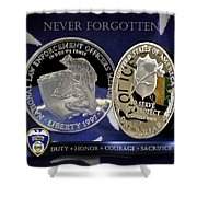 Akron Police Memorial Shower Curtain by Gary Yost