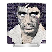Al Pacino Again Shower Curtain by Tony Rubino