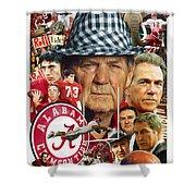Alabama Crimson Tide Shower Curtain by Mark Spears