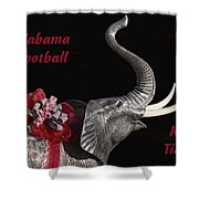 Alabama Football Roll Tide Shower Curtain by Kathy Clark