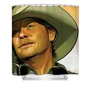 Alan Jackson Artwork Shower Curtain by Sheraz A