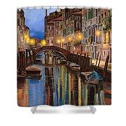 alba a Venezia  Shower Curtain by Guido Borelli
