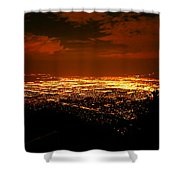 Albuquerque New Mexico  Shower Curtain by Jeff  Swan