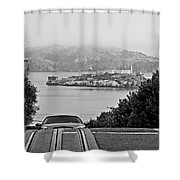 Alcatraz Island From Hyde Street In San Francisco Shower Curtain by RicardMN Photography
