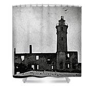 Alcatraz Island Lighthouse Shower Curtain by RicardMN Photography