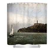 Alcatraz Island Shower Curtain by RicardMN Photography
