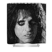 Alice Cooper Shower Curtain by Antony McAulay